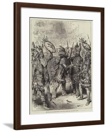 The Savage Club Entertainment at the Royal Albert Hall, the Pipe of Peace--Framed Giclee Print