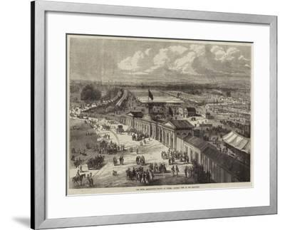 The Royal Agricultural Society at Oxford, General View of the Show-Yard--Framed Giclee Print