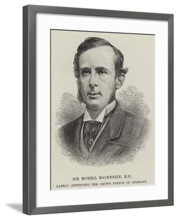 Sir Morell Mackenzie, Md, Lately Attending the Crown Prince of Germany--Framed Giclee Print
