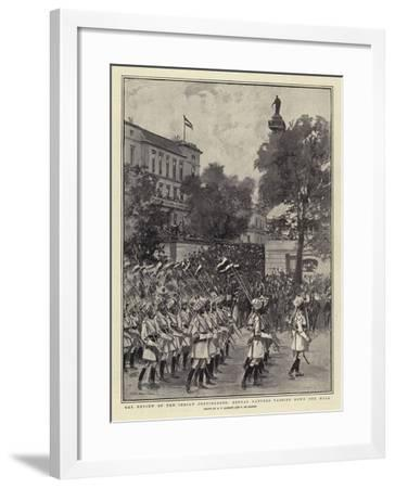 The Review of the Indian Contingents, Bengal Lancers Passing Down the Mall--Framed Giclee Print
