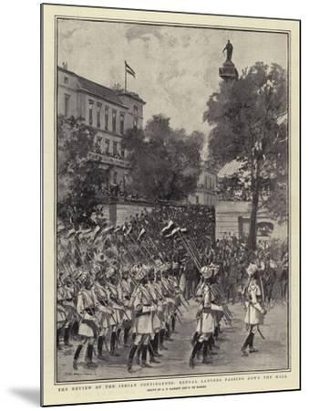 The Review of the Indian Contingents, Bengal Lancers Passing Down the Mall--Mounted Giclee Print