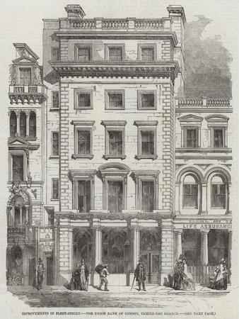 Improvements in Fleet-Street, the Union Bank of London, Temple-Bar Branch--Framed Giclee Print