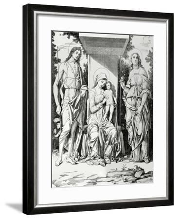 Andrea Mantegna (1431-1506). Italian Painter. Renaissance. by Orrinsmith. the Virgin and Child with--Framed Giclee Print