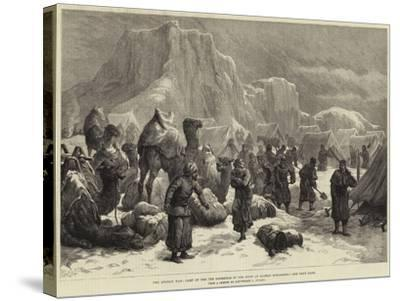 The Afghan War, Camp of the 3rd Goorkhas in the Snow at Sultan Mohammed--Stretched Canvas Print