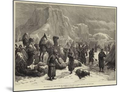 The Afghan War, Camp of the 3rd Goorkhas in the Snow at Sultan Mohammed--Mounted Giclee Print