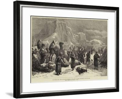 The Afghan War, Camp of the 3rd Goorkhas in the Snow at Sultan Mohammed--Framed Giclee Print