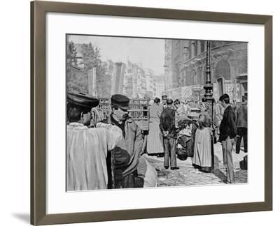 Corner of the Market Near the Church of Saint Eustache, Les Halles, Paris, 1896--Framed Giclee Print