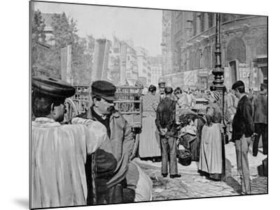 Corner of the Market Near the Church of Saint Eustache, Les Halles, Paris, 1896--Mounted Giclee Print