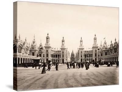 Esplanade Des Invalides During the Exposition Universelle of 1900, Paris--Stretched Canvas Print