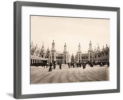 Esplanade Des Invalides During the Exposition Universelle of 1900, Paris--Framed Giclee Print