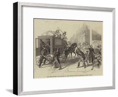 The Post Office Van, Calling at the Office of the Illustrated London News--Framed Giclee Print