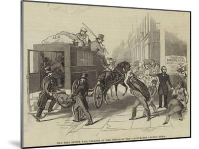 The Post Office Van, Calling at the Office of the Illustrated London News--Mounted Giclee Print