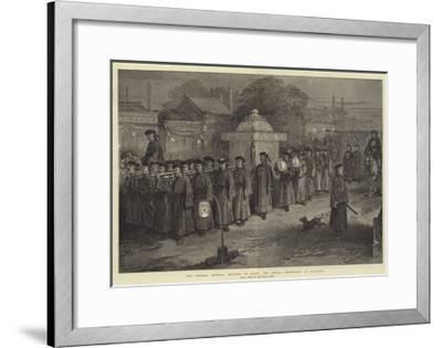 The Chinese Imperial Wedding at Pekin, the Bridal Procession at Midnight--Framed Giclee Print