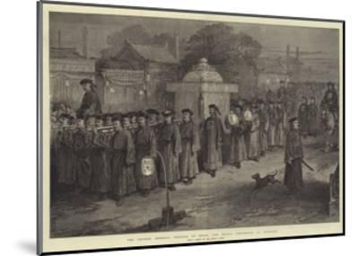 The Chinese Imperial Wedding at Pekin, the Bridal Procession at Midnight--Mounted Giclee Print