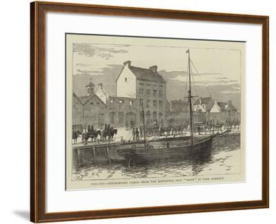 Ireland, Discharging Cargo from the Boycotted Ship Wave in Cork Harbour--Framed Giclee Print