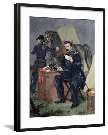 George Brinton Mcclellan (1826 Ai? 1885). Militar (American Civil War).. 19th Century. Coloured--Framed Giclee Print