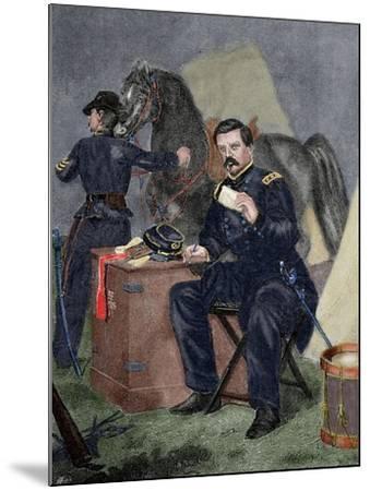 George Brinton Mcclellan (1826 Ai? 1885). Militar (American Civil War).. 19th Century. Coloured--Mounted Giclee Print