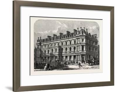 The New Union Bank Buildings, Carey Street and Chancery Lane, London, UK, 1865--Framed Giclee Print