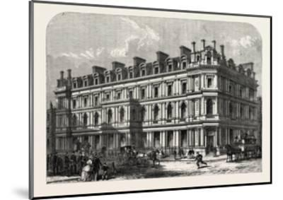 The New Union Bank Buildings, Carey Street and Chancery Lane, London, UK, 1865--Mounted Giclee Print