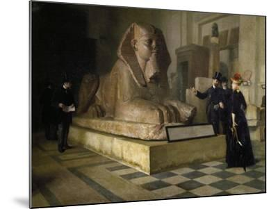 Egyptian Room of Louvre and Great Sphinx, by Guillaume Larue (1851-1935)--Mounted Giclee Print