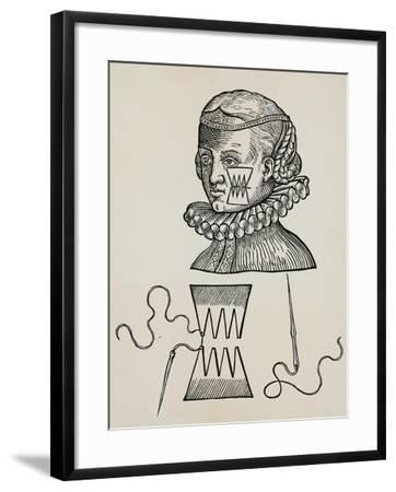 Wound to Cheek Treated with Plasters to Prevent Traces of Stitch Marks on Skin, 1579,--Framed Giclee Print