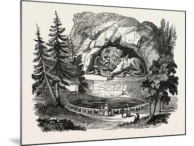 The Lion of Thorwaldsen. Bertel Thorvaldsen, Ca. 1770 1844, Was a Danish Sculptor--Mounted Giclee Print