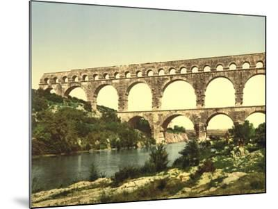 Roman Bridge over the Gard, Constructed by Agrippa, Nîmes, France, C.1890-C.1900--Mounted Giclee Print