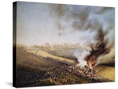 Train Crash in Bellevue, on Line Between Paris-Versailles, May 8, 1842, France, 19th Century--Stretched Canvas Print