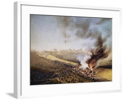 Train Crash in Bellevue, on Line Between Paris-Versailles, May 8, 1842, France, 19th Century--Framed Giclee Print