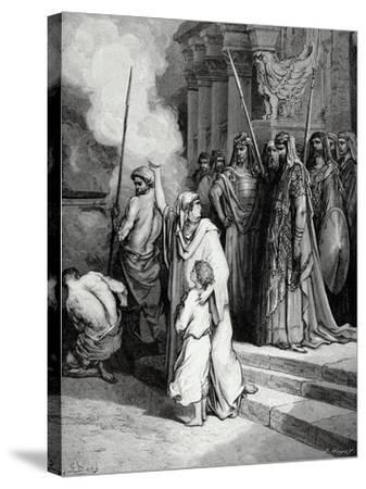 Bible. the Courage of a Mother of Maccabees. Illustration by Gustave Dore. II Maccabees--Stretched Canvas Print
