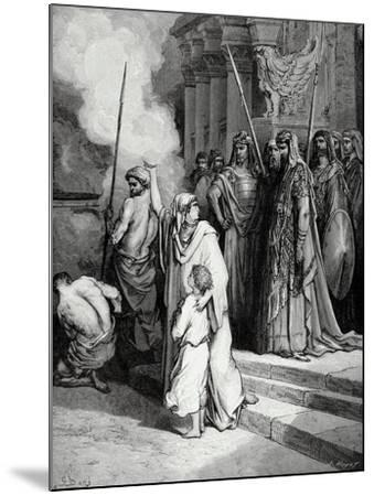 Bible. the Courage of a Mother of Maccabees. Illustration by Gustave Dore. II Maccabees--Mounted Giclee Print