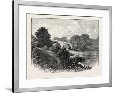 Ilkley Bridge, Uk. Ilkley Is a Spa Town and Civil Parish in West Yorkshire, in Northern England--Framed Giclee Print
