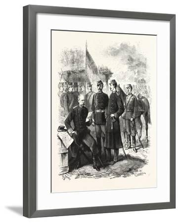 The War in Servia, General Zach, Chief of the Staff: Costumes of the Servian Army, Serbia, 1876--Framed Giclee Print