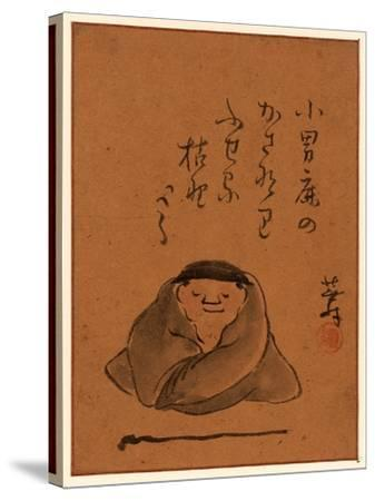 [A Man or Monk Seated, Facing Front Sleeping or Meditating], [Between 1800 and 1850] 1 Drawing--Stretched Canvas Print