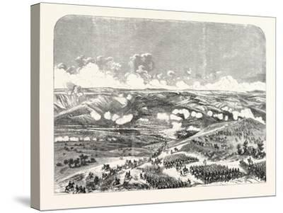 Battle of the Bridge of Traktir on the Tchernaya. According to Official Documents. 1855.--Stretched Canvas Print