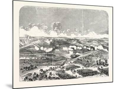 Battle of the Bridge of Traktir on the Tchernaya. According to Official Documents. 1855.--Mounted Giclee Print