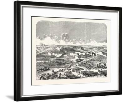 Battle of the Bridge of Traktir on the Tchernaya. According to Official Documents. 1855.--Framed Giclee Print