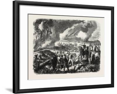 Burning of Cork-Tree Forests, in the District of Jemappes, Philipville, Algeria, 1865--Framed Giclee Print
