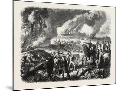 Burning of Cork-Tree Forests, in the District of Jemappes, Philipville, Algeria, 1865--Mounted Giclee Print
