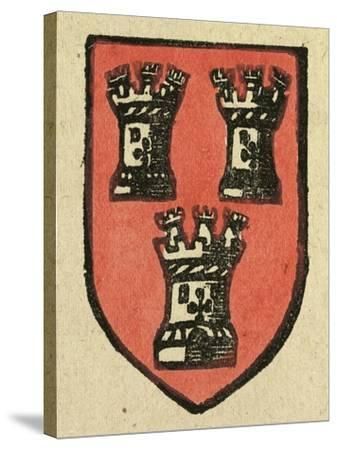 Illustration of English Tales Folk Tales and Ballads. a Coat of Arms Depicting Three Castles--Stretched Canvas Print