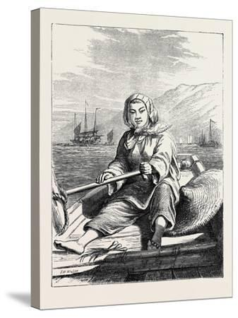 The Duke of Edinburgh's Collection at the South Kensington Museum, London: a Boat Girl at Canton--Stretched Canvas Print