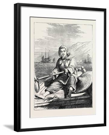 The Duke of Edinburgh's Collection at the South Kensington Museum, London: a Boat Girl at Canton--Framed Giclee Print