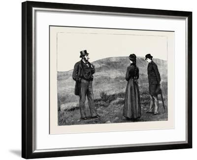 Kit, a Memory; as They Drew Near to the Hut a Man in Broadcloth Emerged from It, Smoking a Cigar--Framed Giclee Print