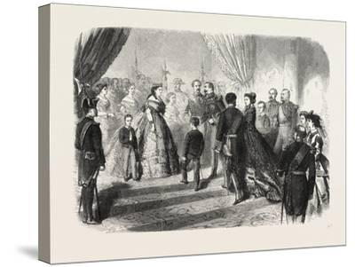 Meeting of the French and Spanish Royal Families in the Hotel De Ville, St. Sebastian, 1865--Stretched Canvas Print