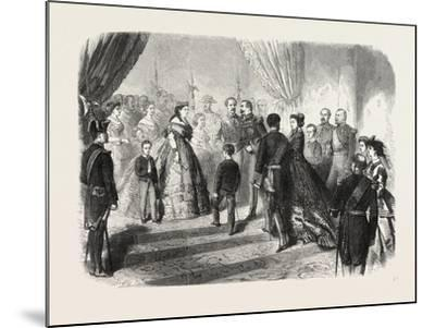 Meeting of the French and Spanish Royal Families in the Hotel De Ville, St. Sebastian, 1865--Mounted Giclee Print