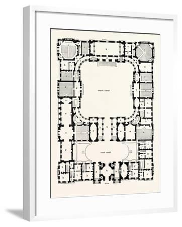 Original Plan of the Principal Storey of the New Building for the University of Edinburgh--Framed Giclee Print