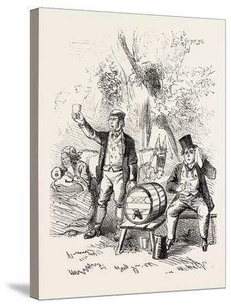 The Derby Day, Scenes by the Roadside and on the Downs: Roadside Refreshments. Uk, 1860--Stretched Canvas Print