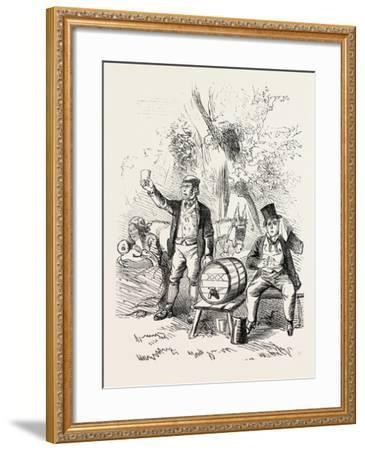 The Derby Day, Scenes by the Roadside and on the Downs: Roadside Refreshments. Uk, 1860--Framed Giclee Print