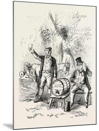 The Derby Day, Scenes by the Roadside and on the Downs: Roadside Refreshments. Uk, 1860--Mounted Giclee Print