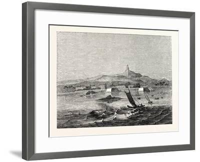 The Island of Ceylon: Distant View of Adam's Peak from Fort Colombo Roads--Framed Giclee Print